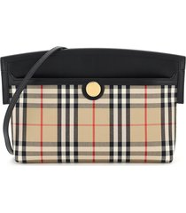 burberry society clutch with shoulder strap