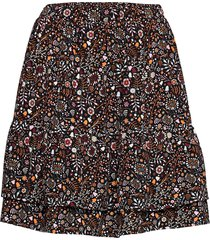 adler drapey print kort kjol orange arnie says