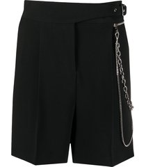 ermanno scervino key-chain tailored shorts - black