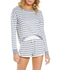 women's vintage havana stripe hacci lounge sweatshirt