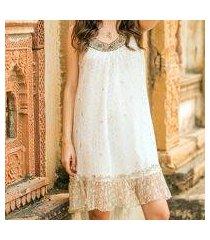 beaded a-line dress, 'golden' (india)