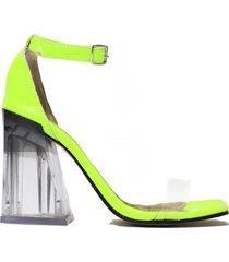 sandalia  verde felmini percy