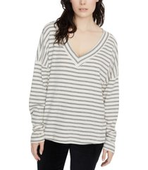 sanctuary eryka ribbed striped long-sleeved t-shirt