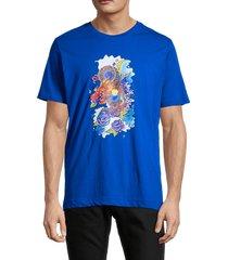 robert graham men's demopolis graphic t-shirt - cobalt - size xl