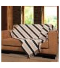 manta para sofá ipê - 150 x 140 cm preta