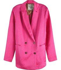 roze dames blazer maison scotch - 150037