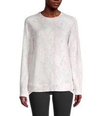 marc new york performance women's crewneck pullover sweater - pink - size xs