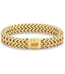 tommy hilfiger men's braided gold-tone bracelet