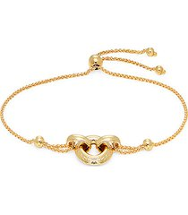 14k yellow gold round-link chain bracelet