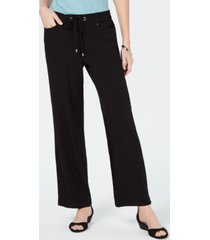 jm collection crinkle wide-leg pants, created for macy's