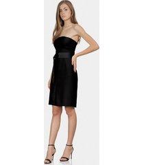 vestido tomara que caia cinto tecido preto reativo - lez a lez