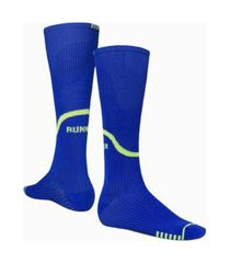5 pares de meias 3/4 compressão masculina fitness corrida selene 4260 azul