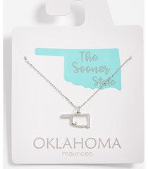 maurices womens dainty oklahoma necklace gray
