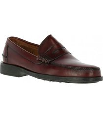 mocasin cuero harvard burdeo hush puppies