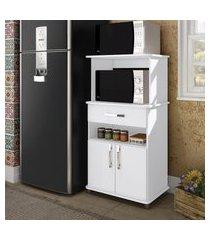 armário para microondas movelbento tradicional 2 portas branco