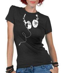 camiseta criativa urbana fones nerd geek - feminino