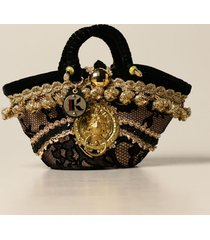 sikuly shoulder bag lace bag p. sikuly with lurex embroidery