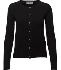 cardigan ls stickad tröja cardigan svart rosemunde