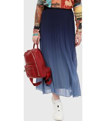 falda azul desigual