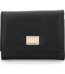 dolce & gabbana french flap wallet
