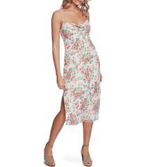 women's 1.state ikat bouquet cowl neck dress