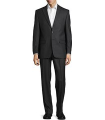 textured wool suit