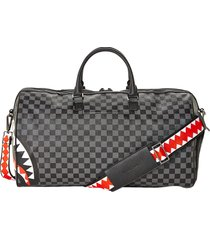 sprayground sharks in paris duffle bag |grey| 2806-gry