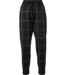 3.1 phillip lim checked track trousers - black