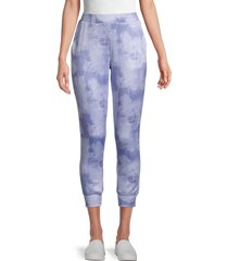 t tahari women's tie-dye joggers - blue - size m