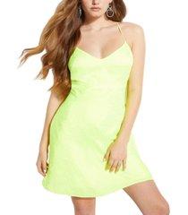 guess arlette lace-up slip dress