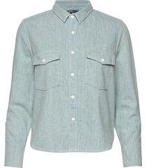 lmc shrunken dnm shirt 2 lmc b långärmad skjorta blå levi's made & crafted
