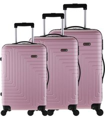 conjunto mala tonin s rãgidas sevilha (p + m + g) rosa - rosa - dafiti