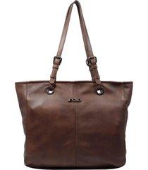 bolsa em couro recuo fashion bag shopper telha