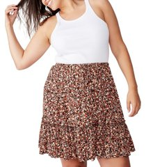 cotton on curve penny tiered mini skirt