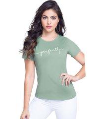 camiseta adulto femenino verde oliva marketing  personal