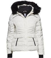 glacier biker jacket fodrad jacka vit superdry