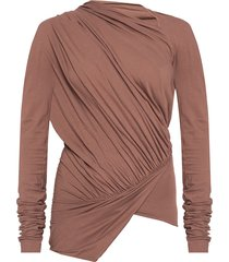 asymmetrical t-shirt with long sleeves