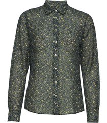 d2. lemonade cotton silk shirt blouse lange mouwen blauw gant