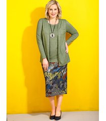 kjol m. collection flerfärgad