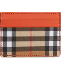 burberry vintage check and leather card case - yellow