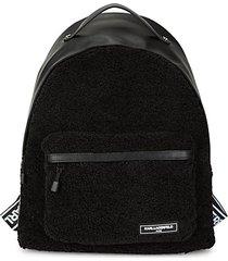 apres-ski logo faux fur backpack