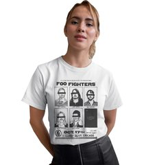 camiseta basica my t-shirt foo fighters branco