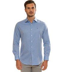 camisa azul medio oscar de la renta a9drs03-md/bl manga larga