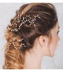 sposa luxury crystal pearl capelli catena da sposa tiara nuziale capelli accessori per capelli