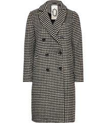 double breasted tailored coat in wool blend yllerock rock svart scotch & soda