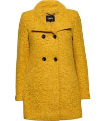 onlnewsophia wool coat cc otw wollen jas lange jas geel only