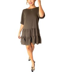 ax paris women's tiered swing dress