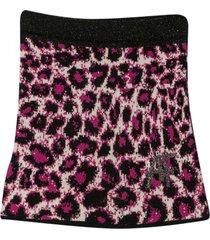 alberta ferretti fuchsia knit skirt