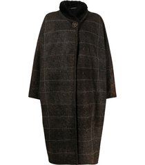 a.n.g.e.l.o. vintage cult 1980s oversized striped coat - brown