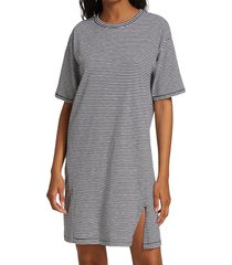 rag & bone women's striped t-shirt dress - heather grey - size xs